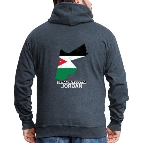 Straight Outta Jordan country map - Men's Premium Hooded Jacket