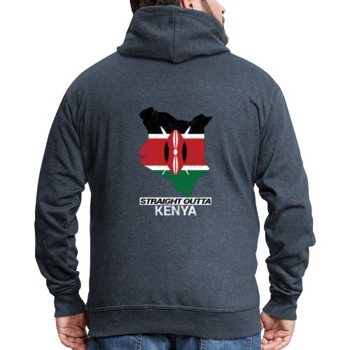 Straight Outta Kenya country map & flag - Men's Premium Hooded Jacket