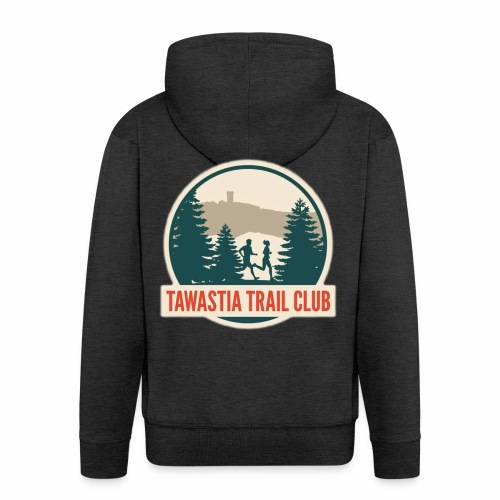TawastiaTrailClub - Miesten premium vetoketjullinen huppari