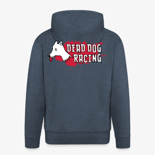 Dead dog racing logo - Men's Premium Hooded Jacket
