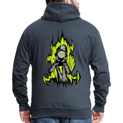 KRASS mit Flamme - Männer Premium Kapuzenjacke