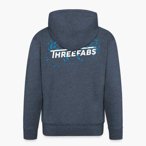 DJ ThreeFabs Blau - Männer Premium Kapuzenjacke