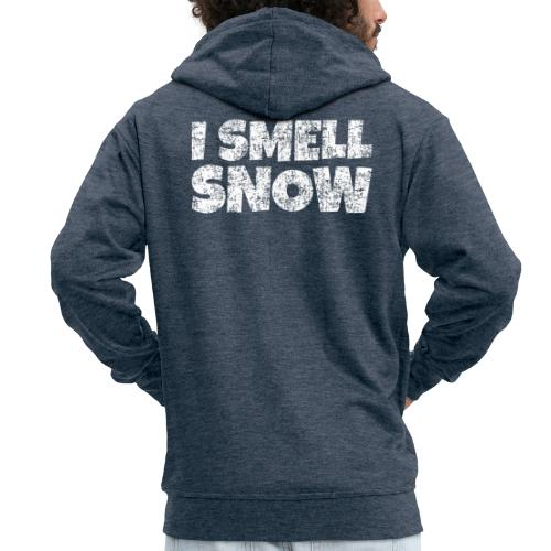 I Smell Snow Schnee, Weihnachten & Wintersport - Männer Premium Kapuzenjacke