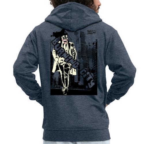 Burnig City - Chaqueta con capucha premium hombre