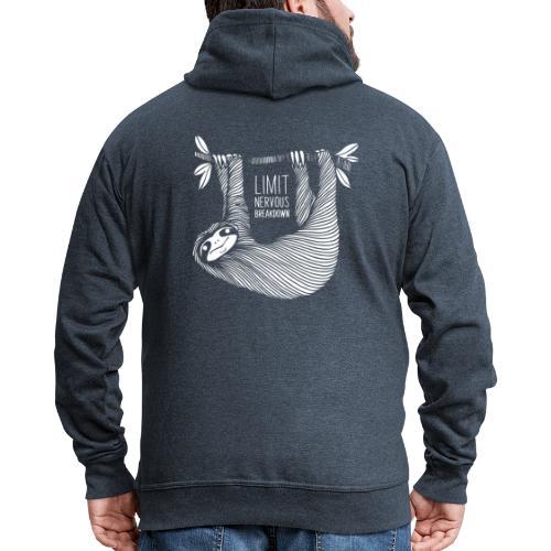 Le paresseux, animal, limit nervous breakdown - Veste à capuche Premium Homme
