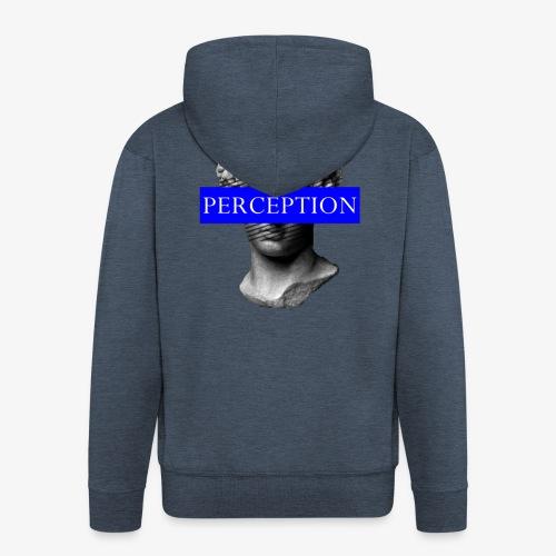 TETE GRECQ BLUE - PERCEPTION CLOTHING - Veste à capuche Premium Homme