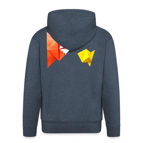 Origami Piranha and Fish - Fish - Pesce - Peixe - Men's Premium Hooded Jacket