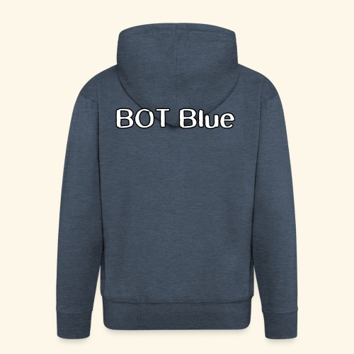 BOT Blue Written Logo - Men's Premium Hooded Jacket