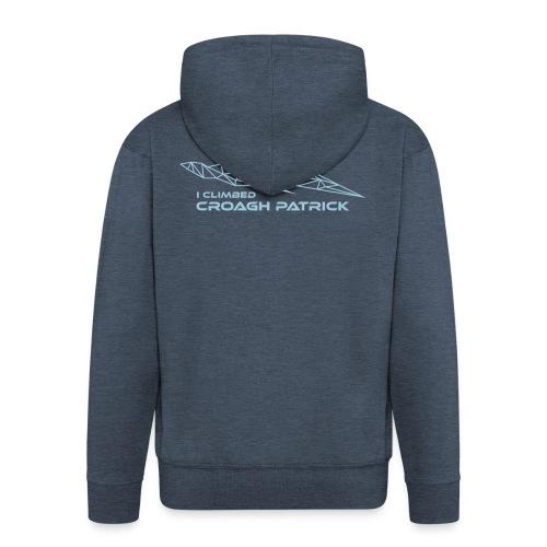 I climbed Croagh Patrick Geometric Design - Men's Premium Hooded Jacket