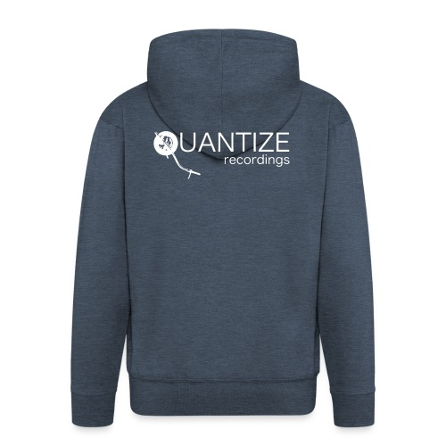 Quantize White Logo - Men's Premium Hooded Jacket