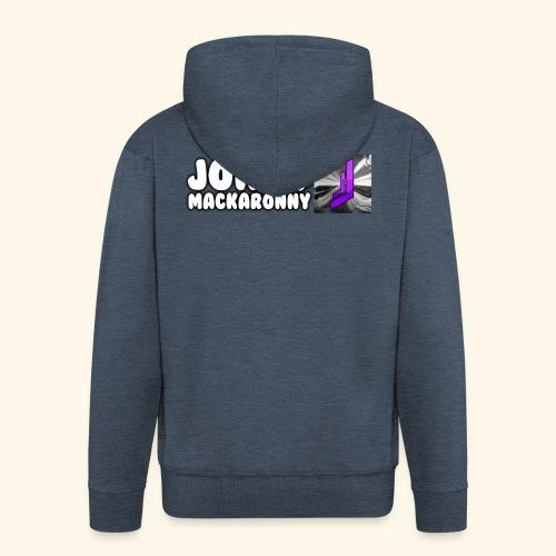 JonnyMackaronny Tekst med Logo - Premium Hettejakke for menn