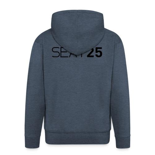Seat25 Logo Dark - Men's Premium Hooded Jacket