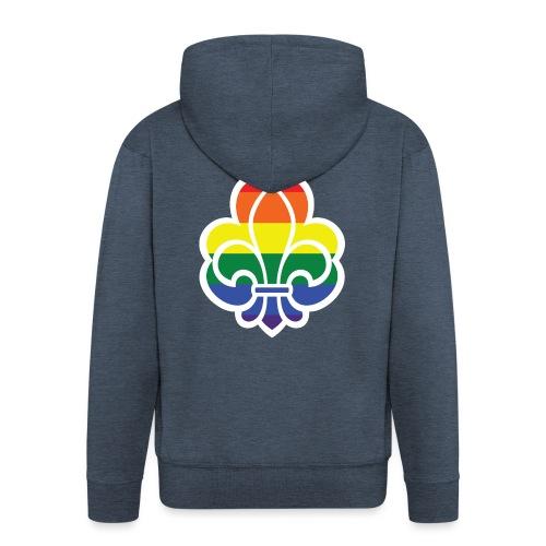 Regnbuespejder jakker og t-shirts mv - Herre premium hættejakke