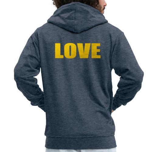 LOVE YELOW - Chaqueta con capucha premium hombre