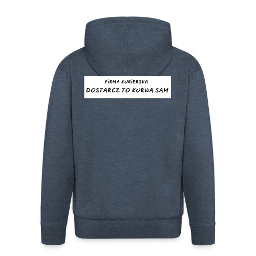 firma kurierska tyl - Rozpinana bluza męska z kapturem Premium