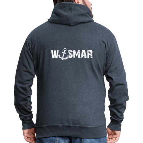 Wismar mit Anker - Männer Premium Kapuzenjacke