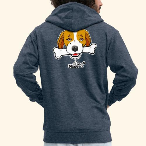 Nice Dogs Semolino - Felpa con zip Premium da uomo