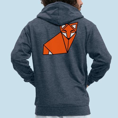 Fuchs geometrisch - Männer Premium Kapuzenjacke