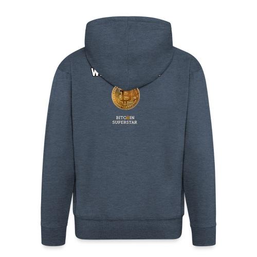 Coin with no flag - Felpa con zip Premium da uomo