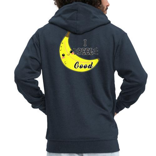 Banana divertente kawaii carina fumetto - Felpa con zip Premium da uomo
