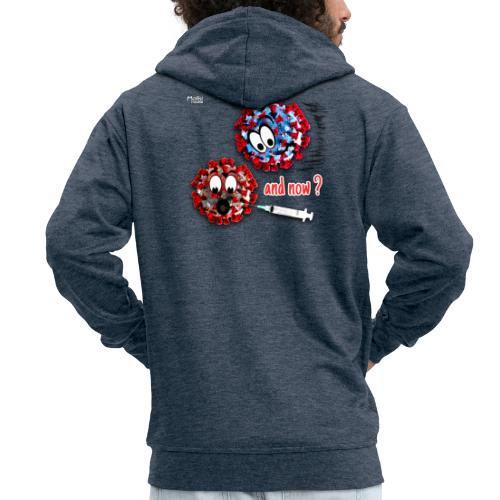 The vaccine ... and now? - Men's Premium Hooded Jacket