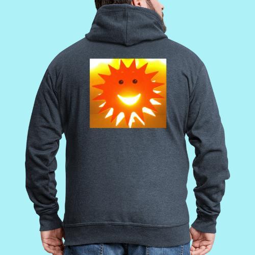 Soleil Souriant - Veste à capuche Premium Homme