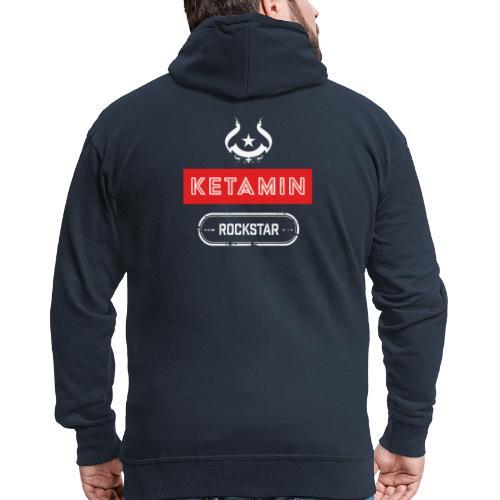 KETAMIN Rock Star - Weiß/Rot - Modern - Men's Premium Hooded Jacket