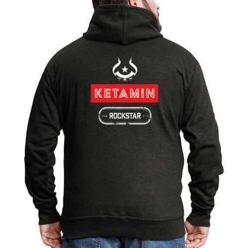 KETAMIN Rock Star - White/Red - Modern - Men's Premium Hooded Jacket