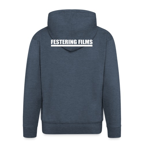 Festering Films Logo (White) - Men's Premium Hooded Jacket