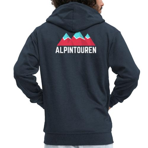 Alpintouren Logo - Männer Premium Kapuzenjacke