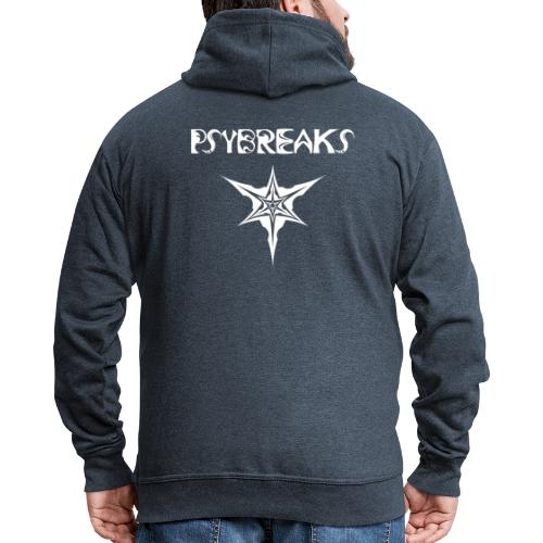Psybreaks visuel 1 - text - white color - Veste à capuche Premium Homme