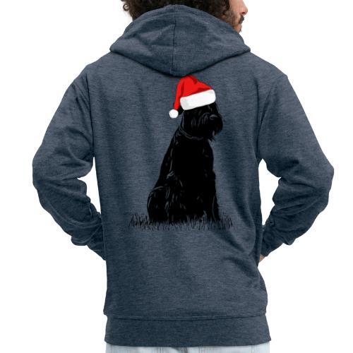 Riesenschnauzer Weihnachten Schnauzer Hund - Männer Premium Kapuzenjacke