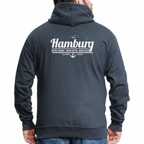 Hamburg - meine Heimat, mein Hafen, mein Kiez - Männer Premium Kapuzenjacke
