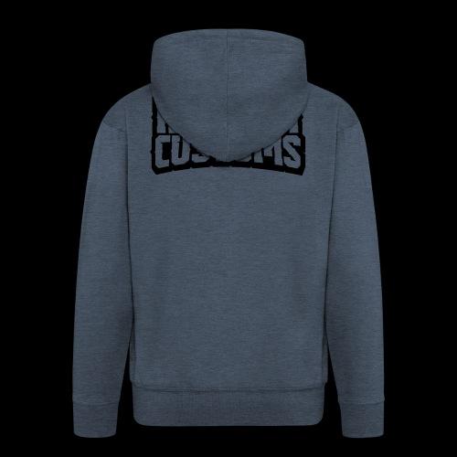 kuortti_customs_logo_main - Miesten premium vetoketjullinen huppari