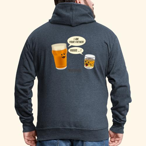 Bier & Whisky Spruch I am your father - Männer Premium Kapuzenjacke