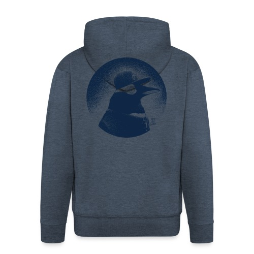 Pinguin dressed in black - Men's Premium Hooded Jacket