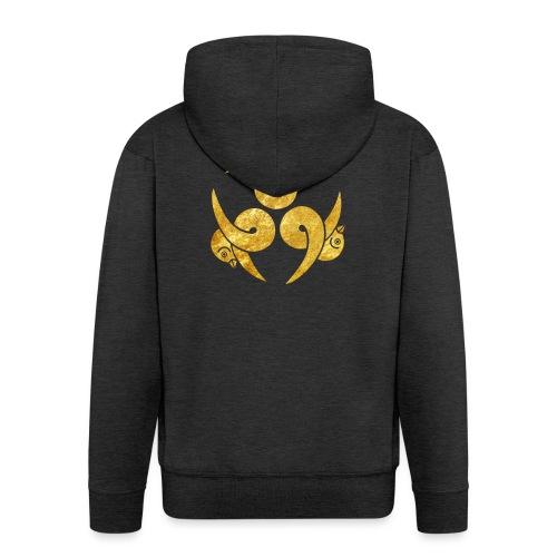 Three Geese Japanese Kamon in gold - Men's Premium Hooded Jacket
