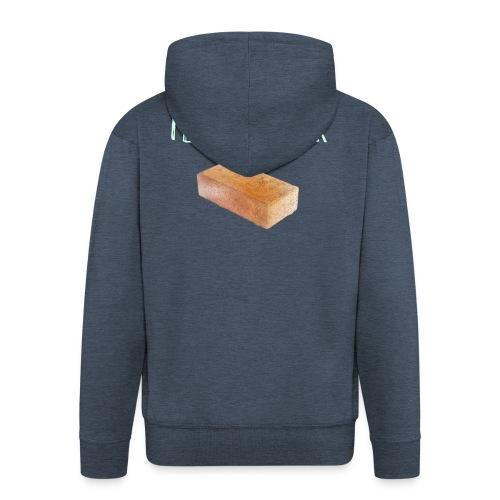 I love my brick - Men's Premium Hooded Jacket