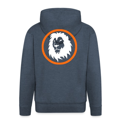 Absogames white lion unisex hoodie - Men's Premium Hooded Jacket