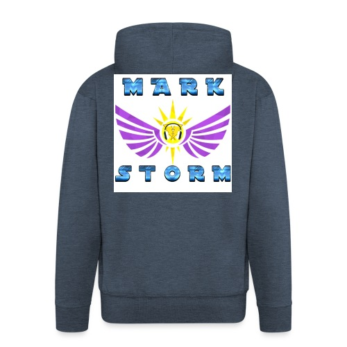 mark storm - Felpa con zip Premium da uomo
