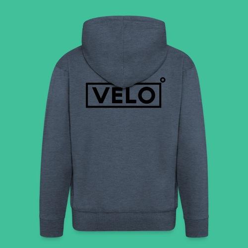 Velo Icon Blk - Long Sleeve Baseball Shirt W/N Clr - Men's Premium Hooded Jacket