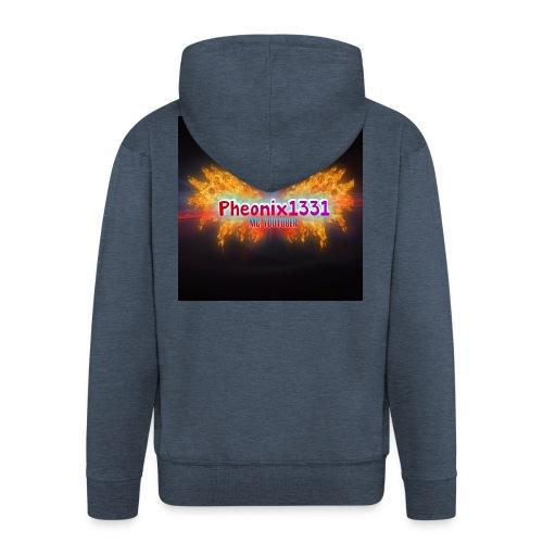 Flaming Pheonix YT - Men's Premium Hooded Jacket