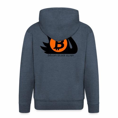 Bitcoin Black Swan - Men's Premium Hooded Jacket