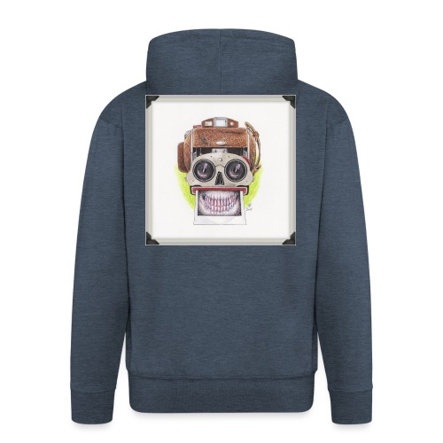 happy skull stereo cam - Männer Premium Kapuzenjacke