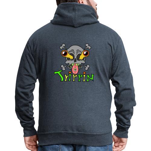 Totenkopf Trippin Design - Männer Premium Kapuzenjacke