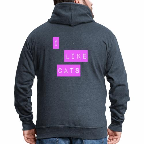 I like cats - Men's Premium Hooded Jacket
