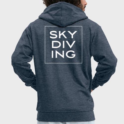 SKY DIV ING White - Männer Premium Kapuzenjacke