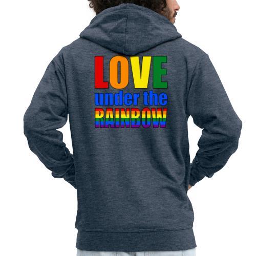 Love under the rainbow - Men's Premium Hooded Jacket
