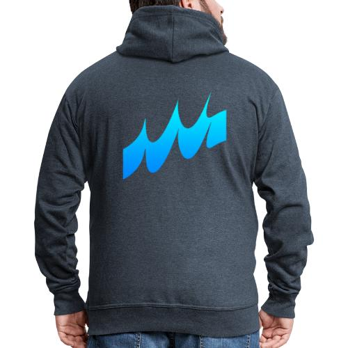 Ocean Waves or just Deep - Men's Premium Hooded Jacket