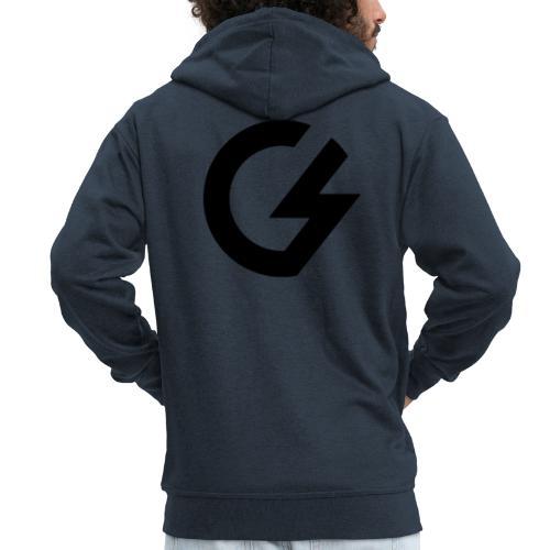 Giacomini Lab - Logo - Felpa con zip Premium da uomo
